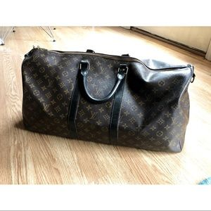 Auth Louis Vuitton Keepall 55 Bandouliere